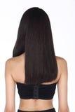 La mujer caucásica después de compone el pelo hace ningún retoque, los wi de la cara fresca Fotos de archivo