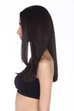 La mujer caucásica después de compone el pelo hace ningún retoque, los wi de la cara fresca Fotos de archivo libres de regalías