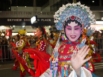 La mujer china que agita Foto de archivo libre de regalías