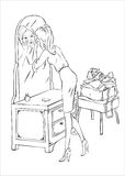 La mujer compone Imágenes de archivo libres de regalías