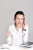 La mujer con el teléfono Imagenes de archivo