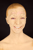 La mujer con la mascarilla Imágenes de archivo libres de regalías