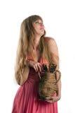 La mujer con un jarro Imágenes de archivo libres de regalías