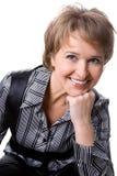 La mujer de negocios atractiva Foto de archivo libre de regalías