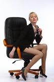 La mujer de negocios atractiva joven Fotografía de archivo libre de regalías