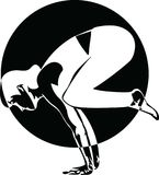 La mujer deportiva hermosa del yogini del ajuste practica yoga stock de ilustración