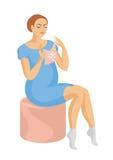 La mujer embarazada Fotografía de archivo libre de regalías