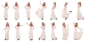 La mujer en concepto de la ropa de moda Foto de archivo libre de regalías
