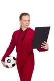 La mujer en concepto de los deportes Imagen de archivo