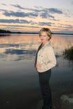 La mujer en el agua fotos de archivo libres de regalías
