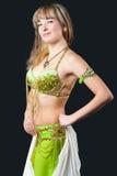 La mujer en juego de baile del este Imagen de archivo libre de regalías