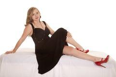Zapatos rojos para vestido negro