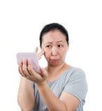 La mujer es boquiabierta fotografía de archivo