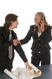 La mujer hace un acuerdo corporativo Foto de archivo libre de regalías