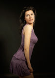 La mujer hermosa está bailando Fotografía de archivo libre de regalías