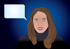 La mujer joven dice Ilustración del Vector