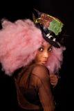 La mujer joven en neo-burlesque el traje foto de archivo