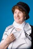 La mujer mayor alegre. Imagen de archivo libre de regalías