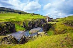 La mujer mayor en Islandia Imagenes de archivo