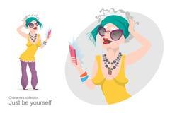 La mujer mayor en ropa elegante brillante hace el selfie Fotos de archivo libres de regalías