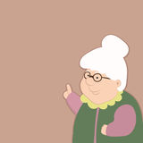 La mujer mayor sabia da consejo sobre vida stock de ilustración