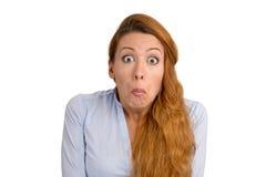 La mujer no tiene ninguna idea Imágenes de archivo libres de regalías