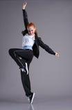 La mujer que salta y que baila Foto de archivo libre de regalías