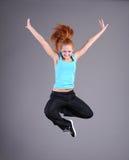 La mujer que salta y que baila Foto de archivo