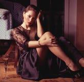 La mujer sexual hermosa Foto de archivo libre de regalías