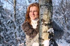 La mujer sonriente Imagenes de archivo