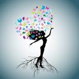 La mujer - un árbol Imágenes de archivo libres de regalías