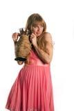La mujer y un jarro Foto de archivo libre de regalías