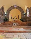 La muratura delle pietre del nero e dell'altare Immagini Stock Libere da Diritti