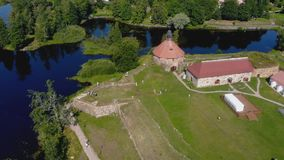 """la Museo-fortezza """"Korela """"è situata in Priozersk, regione di Leningrado, Russia stock footage"""