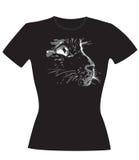 La museruola del gatto - calcoli per un T-breve, maglia Immagine Stock
