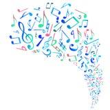 La musica astratta nota il fondo, vettore Immagini Stock