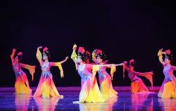 La musica ed il ballo del palazzo di Tang Dynasty fotografia stock libera da diritti