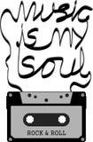 La musica è la mia anima Immagine Stock