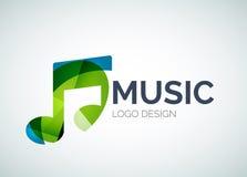 La musica, logo dell'icona della nota fatto di colore collega royalty illustrazione gratis