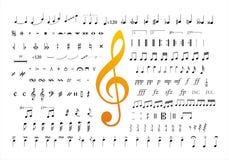 La musica nota i simboli 2 Immagine Stock