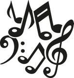 La musica nota il caos illustrazione di stock