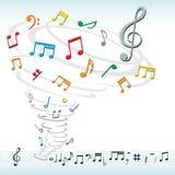 La musica nota il ciclone Fotografie Stock