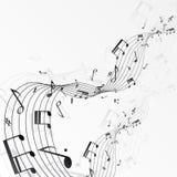 La musica nota il fondo Fotografie Stock Libere da Diritti