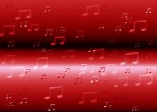 La musica nota il fondo Fotografia Stock