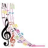 La musica nota il fondo, composizione alla moda in tema musicale, vecto Fotografie Stock Libere da Diritti