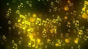 La musica nota il fondo di 4 Loopable archivi video