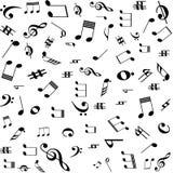 La musica nota il reticolo Fotografia Stock Libera da Diritti