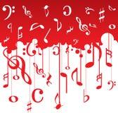 La musica nota il reticolo Fotografie Stock