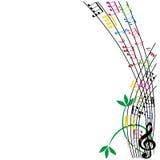 La musica nota la composizione, fondo di tema musicale, illust di vettore Fotografia Stock Libera da Diritti