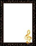 La musica nota la pagina (jpg+eps) Fotografie Stock